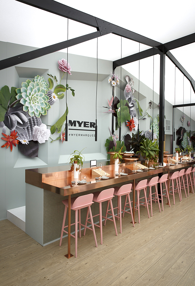 pink and tropical home decor